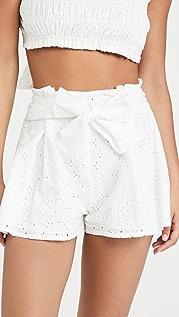 MINKPINK Luna 裥褶短裤