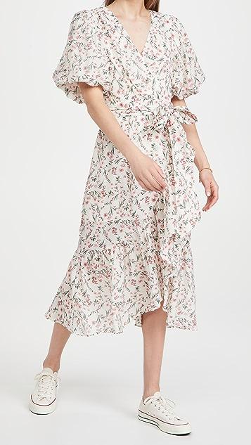 MINKPINK Kacey Puff Sleeve Midi Dress