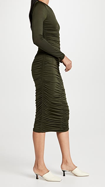 MINKPINK Willow Ruched Jersey Dress