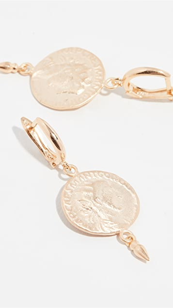 Maison Irem Coin Drop Earrings