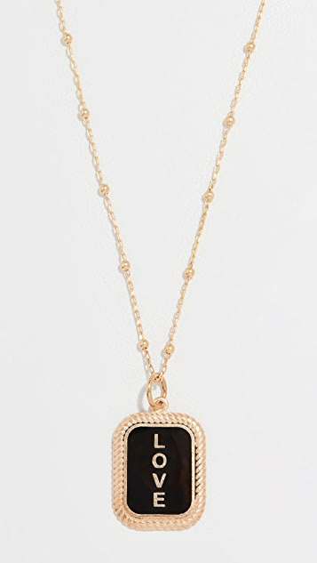 Maison Irem Love Tag Necklace