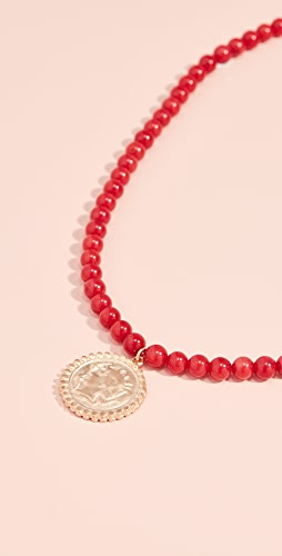Maison Irem - Beaded Coin Necklace