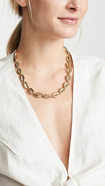 Maison Irem Bandon Gold Plated Shell Necklace