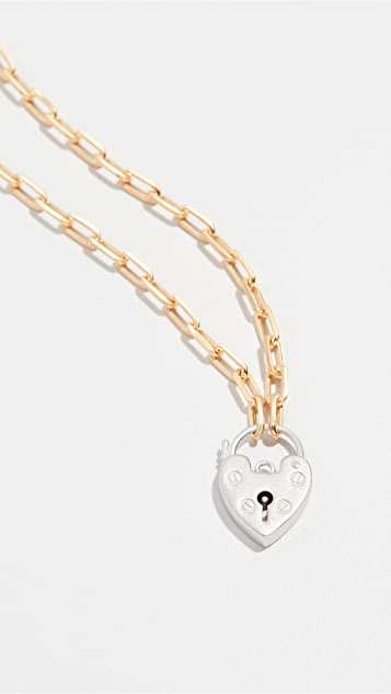 Maison Irem Vintage Heart Locket Choker Chain