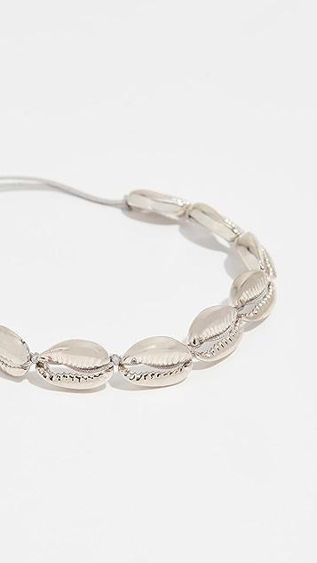 Maison Irem Saint Barth Silver Plated Shell Bracelet