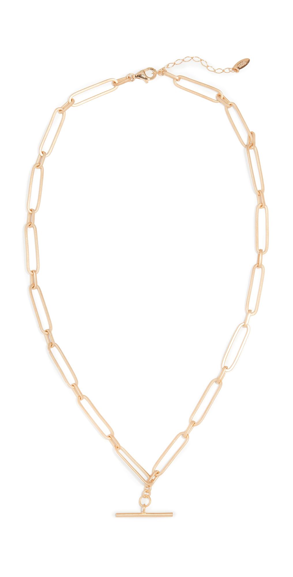 Chain T Bar Choker Necklace