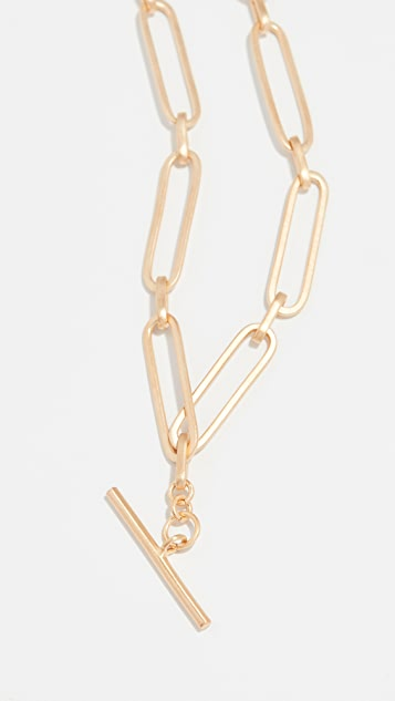 Maison Irem Chain T Bar Choker Necklace