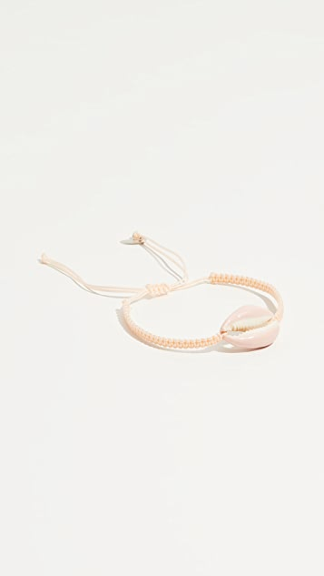 Maison Irem Pino Colored Shell Macrame Bracelet