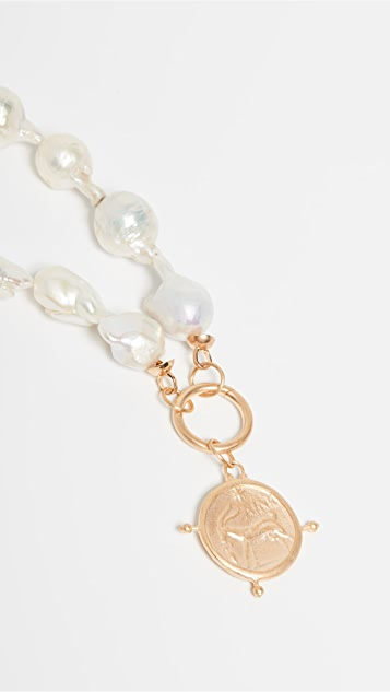 Maison Irem Baroque Freshwater Cultured Pearl Coin Necklace