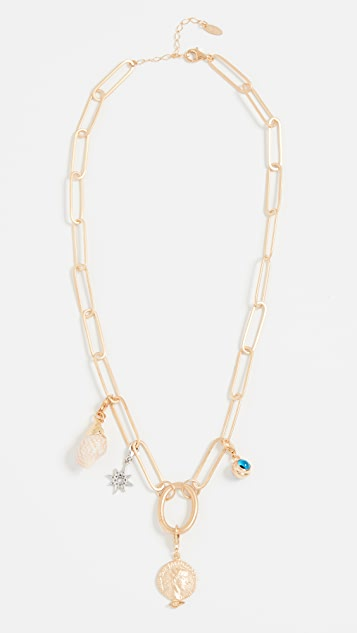 Maison Irem Chunky Chain Charm Necklace