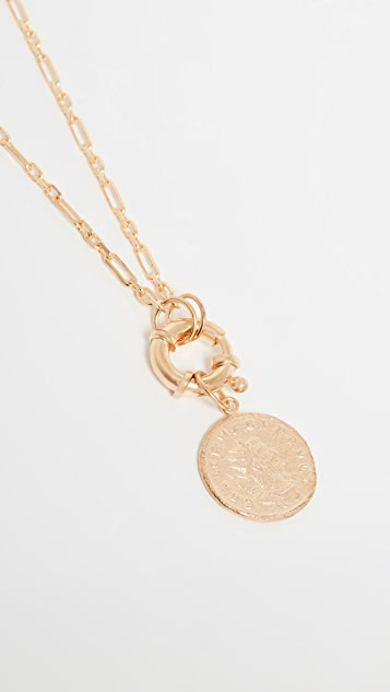 Maison Irem Antique Lock Coin Necklace