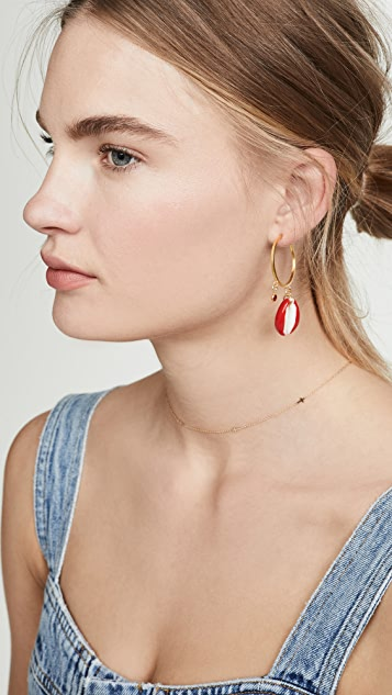 Maison Irem Pino Small Hoop Earrings