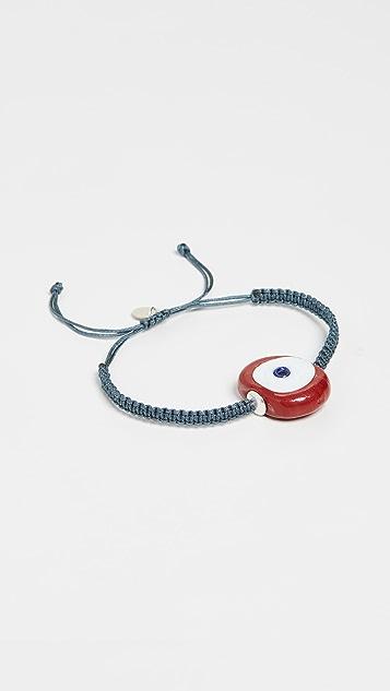 Maison Irem Evil Eye Macrame Bracelet