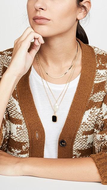 Maison Irem Herringbone Chain Necklace