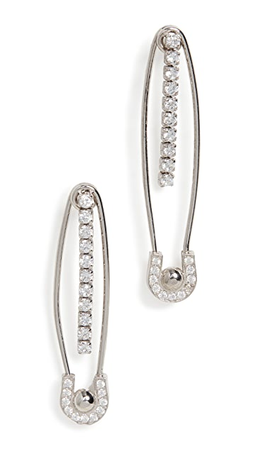Maison Irem Safety Pin Earrings