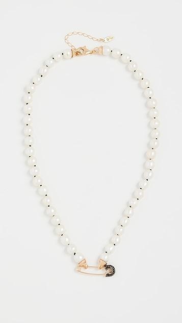 Maison Irem 珍珠金黄色项链