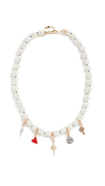 Maison Irem 珍珠吊坠项链 Pixie