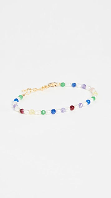 Maison Irem 小巧珍珠彩色手链