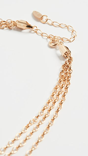 Maison Irem Triple Chain Necklace