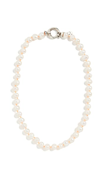 Maison Irem Lilly Pearl Necklace