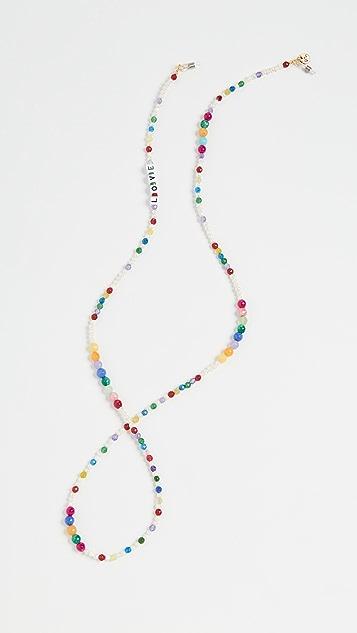 Maison Irem 彩虹眼镜项链