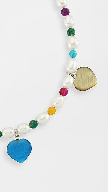 Maison Irem 珍珠彩虹项链