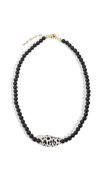 Maison Irem Necklace Onyx Leopard Pearl Nola