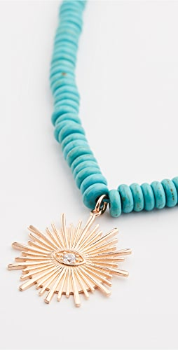 Maison Irem - Turquoise Sun Necklace