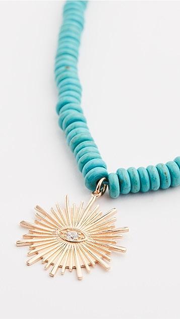 Maison Irem Turquoise Sun Necklace