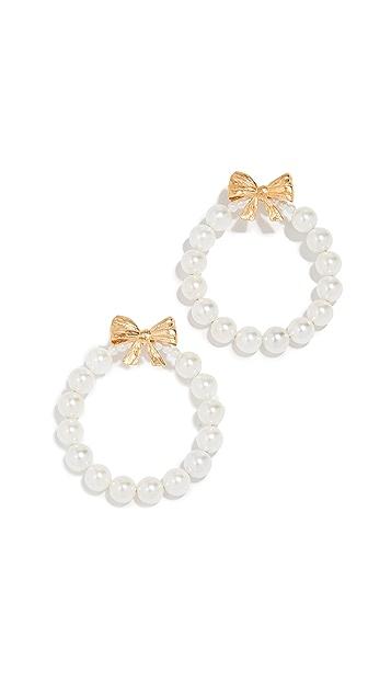Mirit Weinstock Bow Hoop Earrings