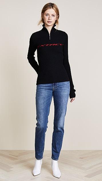 M I S B H V Extacy Half Zip Sweater