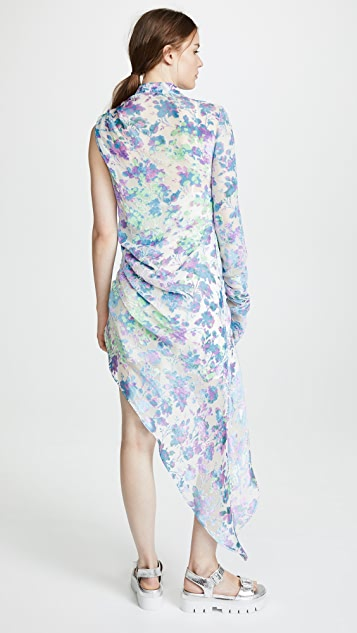 M I S B H V Floral Asymmetrical Dress