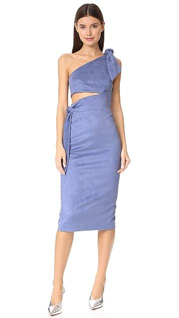 Misha Collection Stefania Microsuede Midi Dress