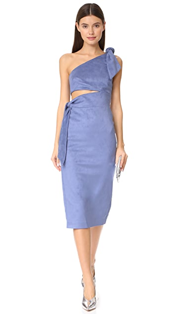 Misha Collection Stefania Microsuede Midi Dress