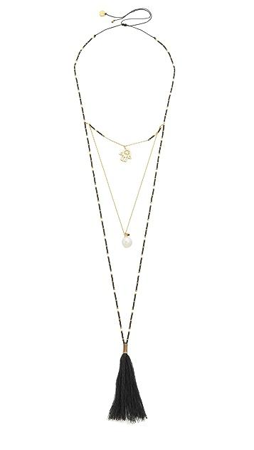 Mishky Hamsa Layers Necklace