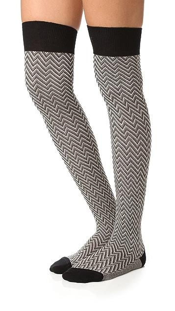 Missoni Thigh High Zigzag Sock Set