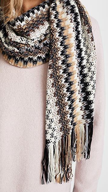 Missoni Wavy Patterned Scarf