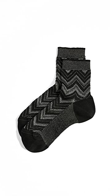 Missoni Chevron Ankle Socks