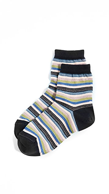 Missoni Stripe Ankle Socks