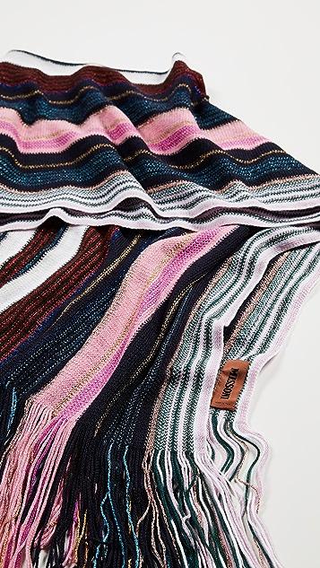 Missoni Narrow Striped Scarf