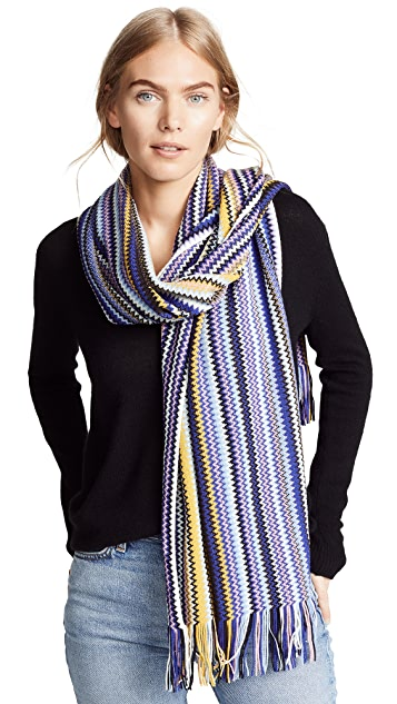 Missoni Rainbow Striped Scarf