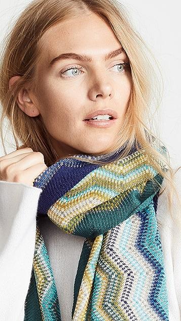 Missoni Яркий шарф с зигзагообразным рисунком