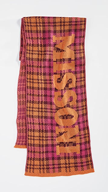 Missoni Plaid Scarf with Branding