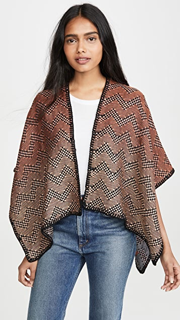 Missoni Reversible Metallic Cape