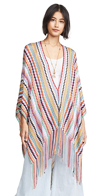 Missoni High Low Zigzag Poncho