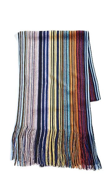 Missoni 条纹金属色围巾