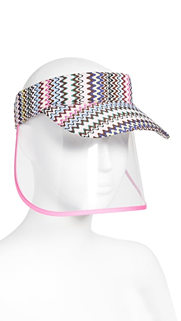 Missoni 面部防护遮阳帽