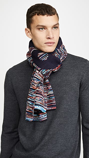Missoni Space Dye Logo Scarf