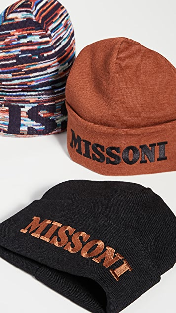Missoni Space Dye Logo Beanie