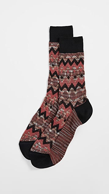 Missoni Multi Print Socks